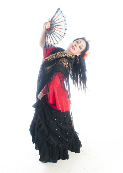 Belly Dancer Selena Kareena - Gitana costume width=